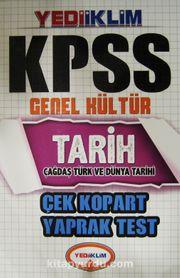 2015 KPSS Genel Kültür Tarih Çağdaş Türk ve Dünya Tarihi Çek Kopart Yaprak Test