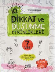 IQ+ Dikkat ve Düşünme Etkinlikleri (7 Yaş 3 Kitap + 3 cd)
