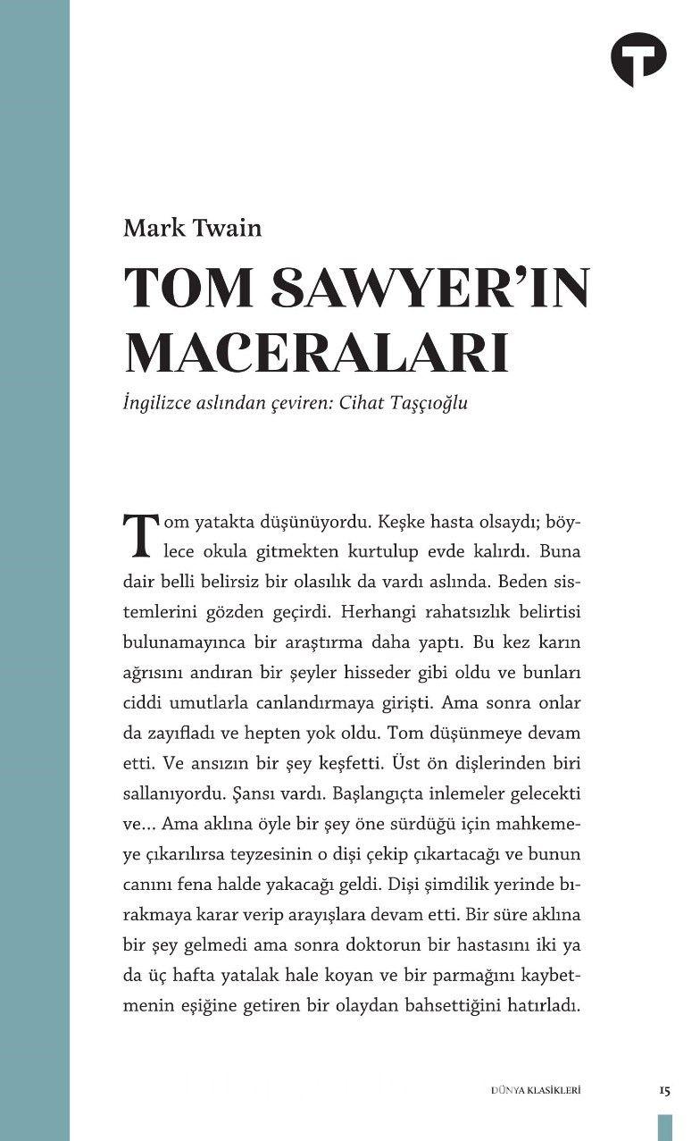 Tom Sawyer'ın Maceraları - Mark Twain pdf epub