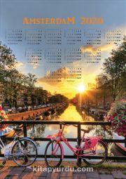 2020 Takvimli Poster - Şehirler - Amsterdam