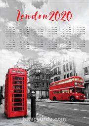2020 Takvimli Poster - Şehirler - London - Sokak