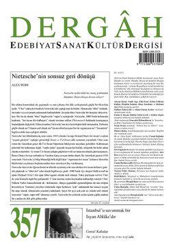 Dergah Edebiyat Sanat Kültür Dergisi Sayı:357 Kasım 2019