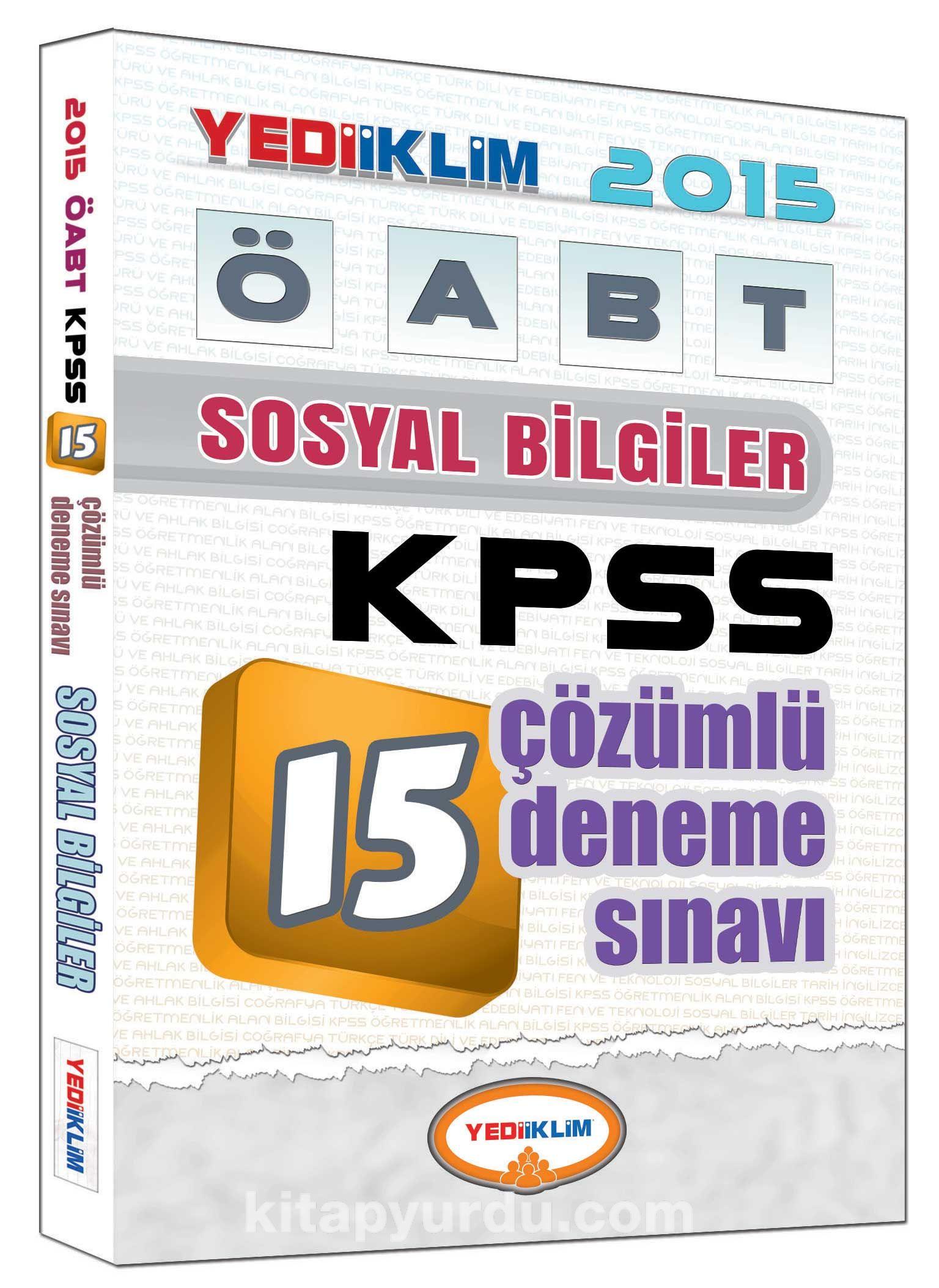 2015 KPSS ÖABT Sosyal Bilgiler 15 Çözümlü Deneme Sınavı - Kollektif pdf epub