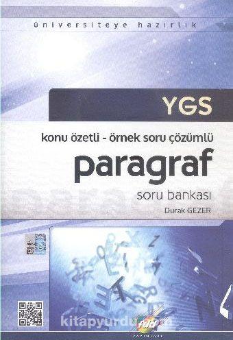 YGS Konu Özetli - Örnek Soru Çözümlü Paragraf Soru Bankası - Durak Gezer pdf epub