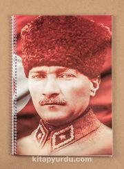 Bookinzi Okul Defteri - 80gr. A4 Spiralli - Atatürk