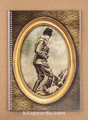 Bookinzi Okul Defteri - 80gr. A4 Spiralli - Atatürk Kocatepe'de 1922