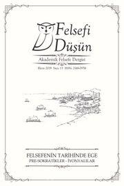 Felsefi Düşün Akademik Felsefe Dergisi Sayı:13 Felsefenin Tarihinde Ege