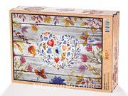 Çiçekli Kalp Ahşap Puzzle 2000 Parça (AS50-MM)