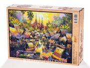 Su Kenarında Yaşam Tayland Ahşap Puzzle 2000 Parça (UK54-MM)