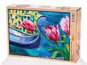 Pembe Laleler ve Gondol Venedik Ahşap Puzzle 2000 Parça (UK55-MM)