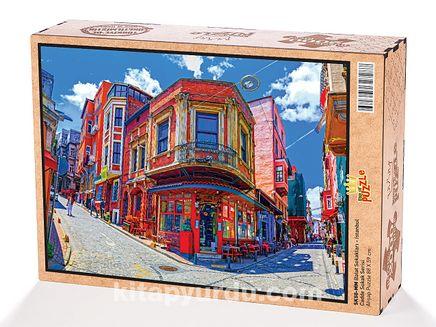 Balat Sokakları - İstanbul Ahşap Puzzle 2000 Parça (SK50-MM)