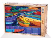 Renkli Kayıklar Ahşap Puzzle 2000 Parça (OB53-MM)