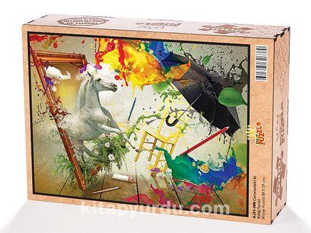 Çerçevedeki At Ahşap Puzzle 2000 Parça (KJ51-MM)