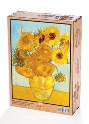 Bir Vazoda On İki Günebakan / Vincent Van Gogh Ahşap Puzzle 2000 Parça (KR51-MM)