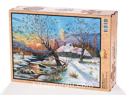 Kış ve Köy Ahşap Puzzle 2000 Parça (MZ52-MM)