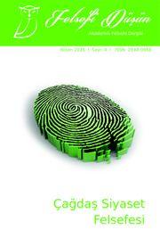 Felsefi Düşün Akademik Felsefe Dergisi Sayı:4 Çağdaş Siyaset Felsefesi