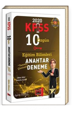 2020 KPSS Eğitim Bilimleri Tamamı Çözümlü 10 Özgün Anahtar Deneme