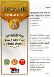 5. Sınıf Din Kültürü ve Ahlak Bilgisi Çek Kopart Yaprak Test