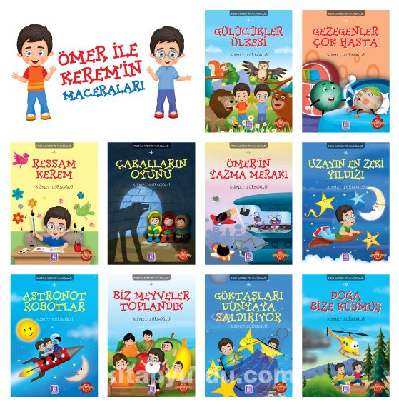 Ömer ile Kerem'in Maceraları (10 Kitap) - Kısmet Türkoğlu pdf epub
