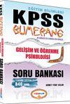 2015 KPSS Bumerang Gelişim ve Öğrenme Psikolojisi Soru Bankası