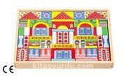 Montessori Ahşap Zeka Oyunları / w-Colorful Townhouses