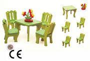 Montessori Ahşap Zeka Oyunları / w-My Home 3D Dinner Room