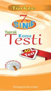7. Sınıf Türkçe Yaprak Konu Testi (40 Test)