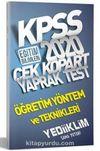 2020 KPSS Eğitim Bilimleri Öğretim Yöntem ve Teknikleri Çek Kopart Yaprak Test