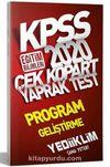 2020 KPSS Eğitim Bilimleri Program Geliştirme Çek Kopart Yaprak Test