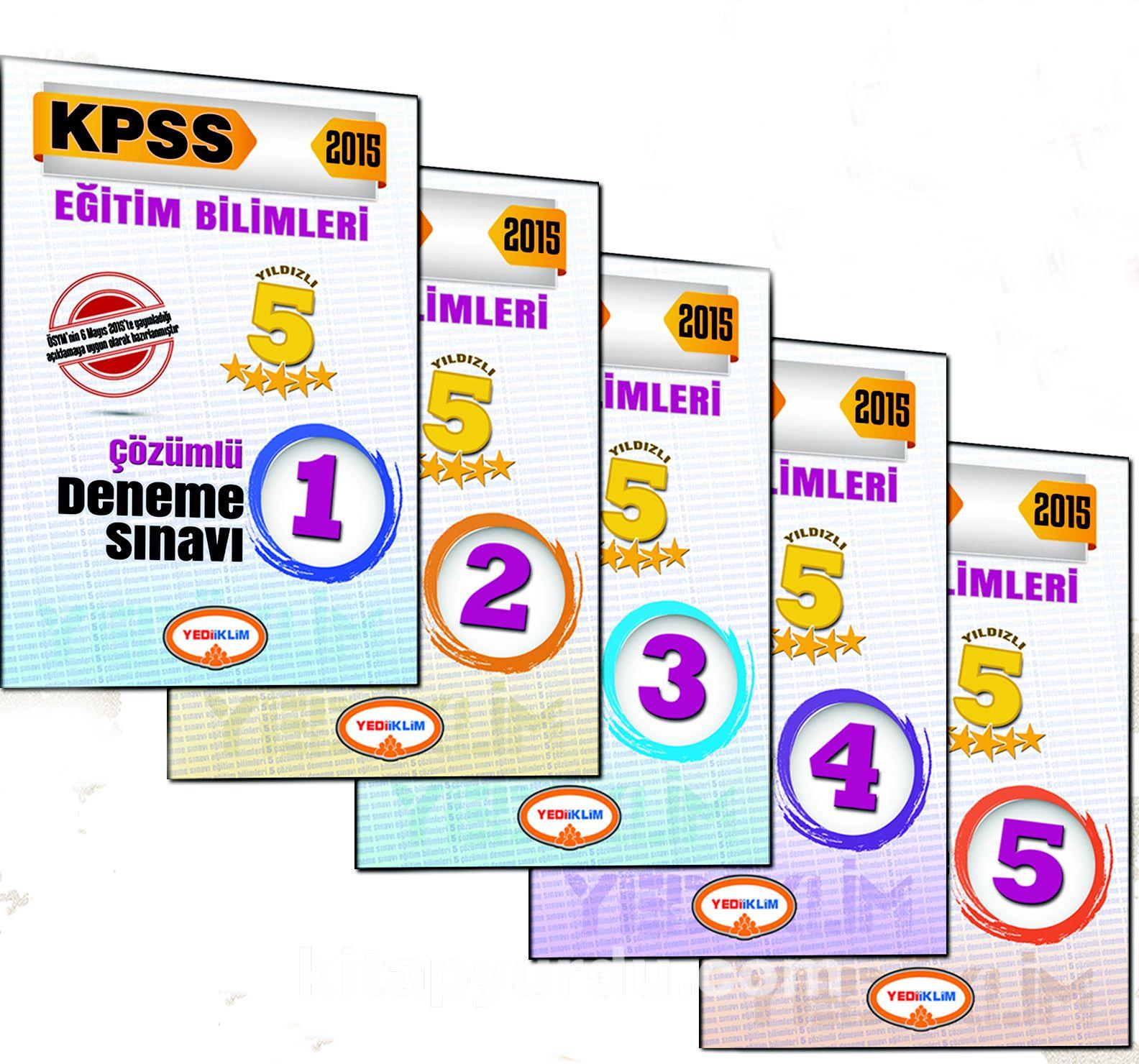 2015 KPSS Eğitim Bilimleri 5 Yıldızlı Fasikül Fasikül 5 Çözümlü Deneme (5 Kitap) - Kollektif pdf epub