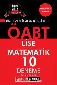 2015 KPSS ÖABT Lise Matematik 10 Deneme