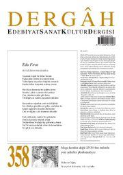 Dergah Edebiyat Sanat Kültür Dergisi Sayı:358 Aralık 2019