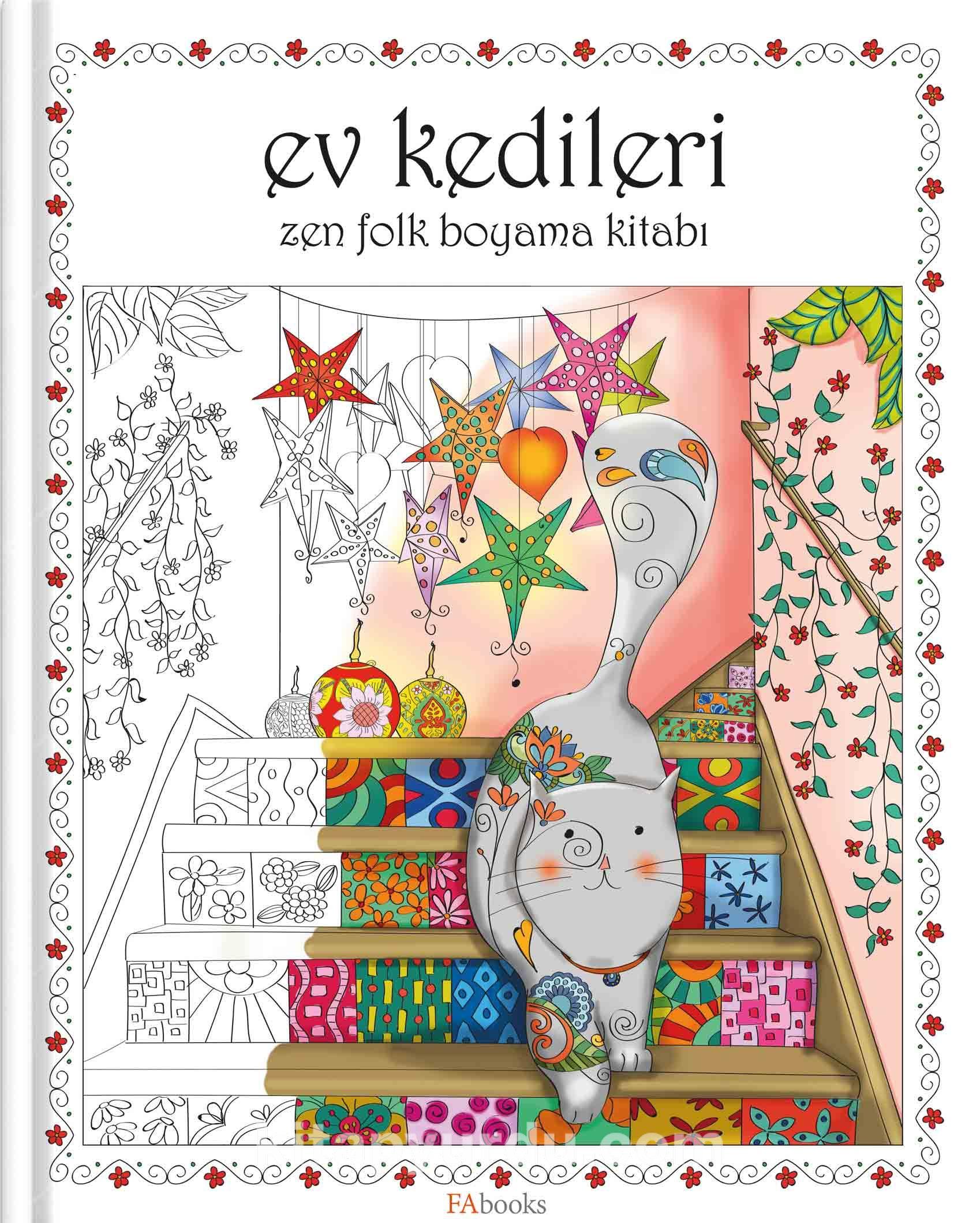 Ev Kedileri Zen Folk Boyama Kitabi Kollektif Kitapyurdu Com