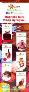 Magnetli Mini Kitap Ayraçları / Kedi Temalı