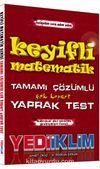 Keyifli Matematik Tamamı Çözümlü Çek Kopart Yaprak Test
