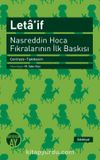 Leta'if & Nasreddin Hoca Fıkralarının İlk Baskısı