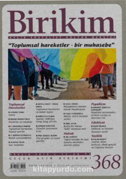 Birikim Aylık Sosyalist Kültür Dergisi Sayı:368 Aralık 2019