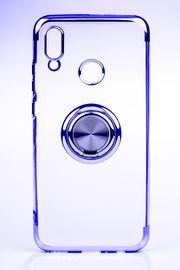 Telefon Kılıfı - Huawei P SMART 2019 - Yüzüklü Şeffaf - Lacivert (TŞY-030)