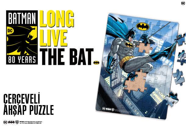 Batman Çerçeveli Ahşap Puzzle