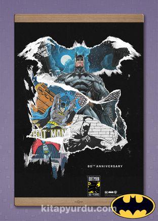 Full Frame Kanvas Poster Magnetli - Batman 80th Anniversary (FF-BT005) Lisanslı Ürün