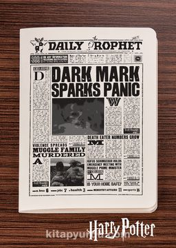 Harry Potter / Newspaper - Daily Prophet I - Dokun Hisset Serisi (AD-HP027) Lisanslı Ürün   (Cep Boy) Lisanslı Ürün