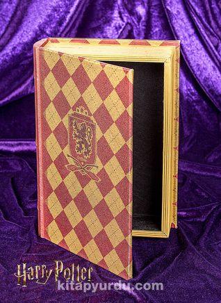 Yaldızlı Ahşap Kutu - Gryffindor (BK-HP003) Lisanslı Ürün