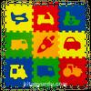 Eğitici Oyun Yer Matı Eco Taşıtlar 33x33 7 mm (390993)