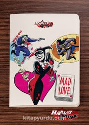 Akıl Defteri - Harley Quinn - Joker Mad Love - Dokun Hisset Serisi (AD-HQ007) (Cep Boy)