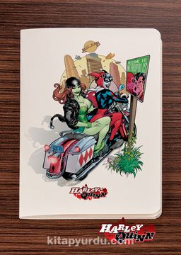 Akıl Defteri - Harley Quinn - Metropolis - Dokun Hisset Serisi (AD-HQ006) Lisanslı Ürün   (Cep Boy) Lisanslı Ürün