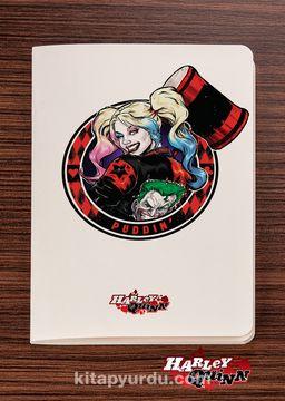 Akıl Defteri - Harley Quinn - Puddin - Dokun Hisset Serisi (AD-HQ004) Lisanslı Ürün   (Cep Boy) Lisanslı Ürün
