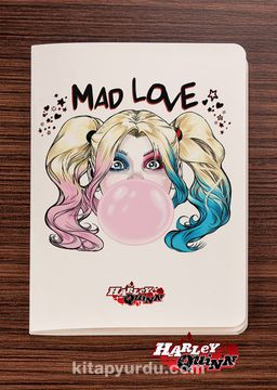 Akıl Defteri - Harley Quinn - Mad Love - Dokun Hisset Serisi (AD-HQ003) Lisanslı Ürün   (Cep Boy) Lisanslı Ürün