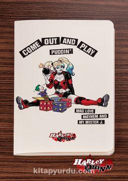 Akıl Defteri -  Harley Quinn - Come Out and Play  - Dokun Hisset Serisi (AD-HQ002) Lisanslı Ürün   (Cep Boy) Lisanslı Ürün