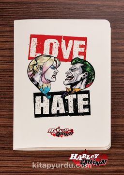 Akıl Defteri -  Harley Quinn - Love Hate - Dokun Hisset Serisi (AD-HQ001) Lisanslı Ürün   (Cep Boy) Lisanslı Ürün