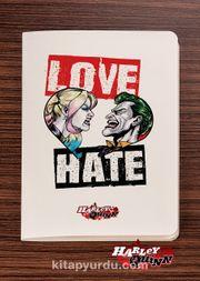 Akıl Defteri -  Harley Quinn - Love Hate - Dokun Hisset Serisi (AD-HQ001) (Cep Boy)